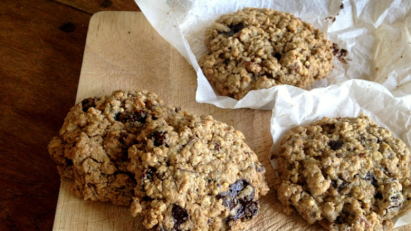 Guilty pleasure: Chocolate-cranberry-pecan cookies