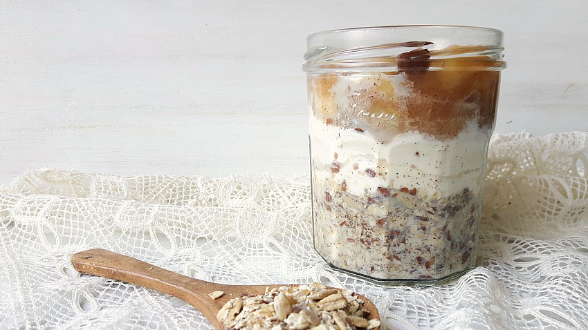 Recept: Overnight oats met homemade appelcompote