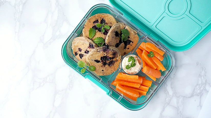 Review: Yumbox + recept voor blauwe bessen pancakes