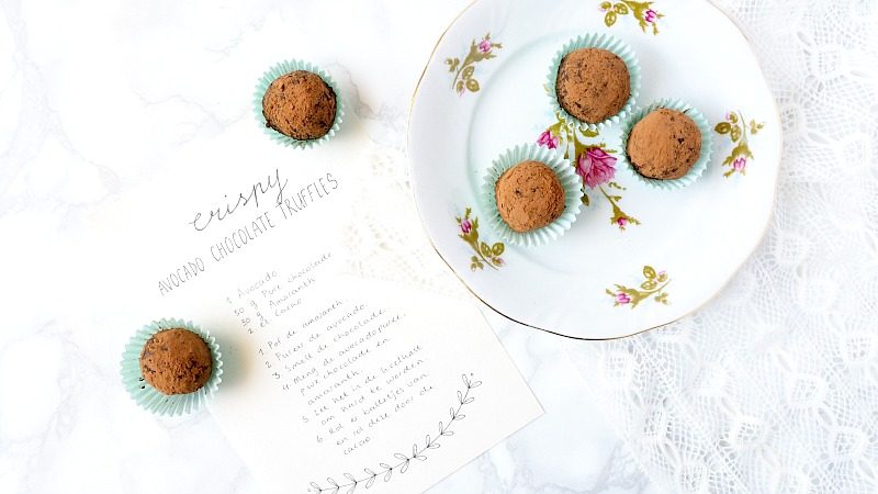 Recept: Chocolate avocado truffles