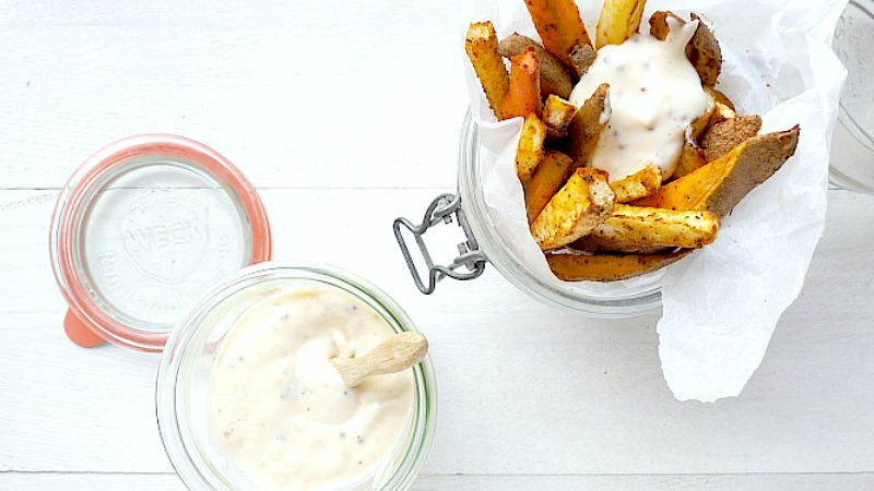 Recept: Gekruide groentefrietjes met zelfgemaakte mayonaise