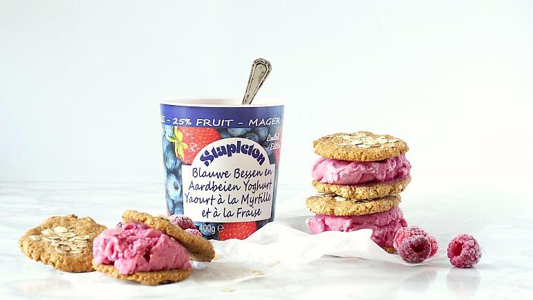 Koken met Stapleton: Frozen yogurt ice cream sandwiches
