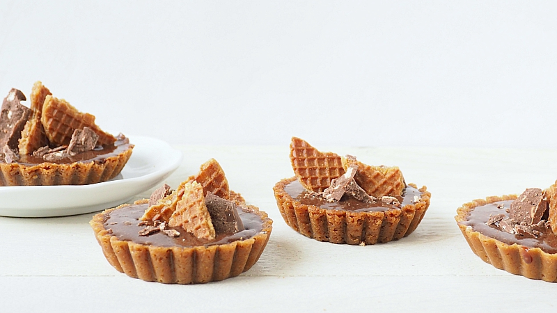 Guilty Pleasure: Chocolade stroopwafel taartje