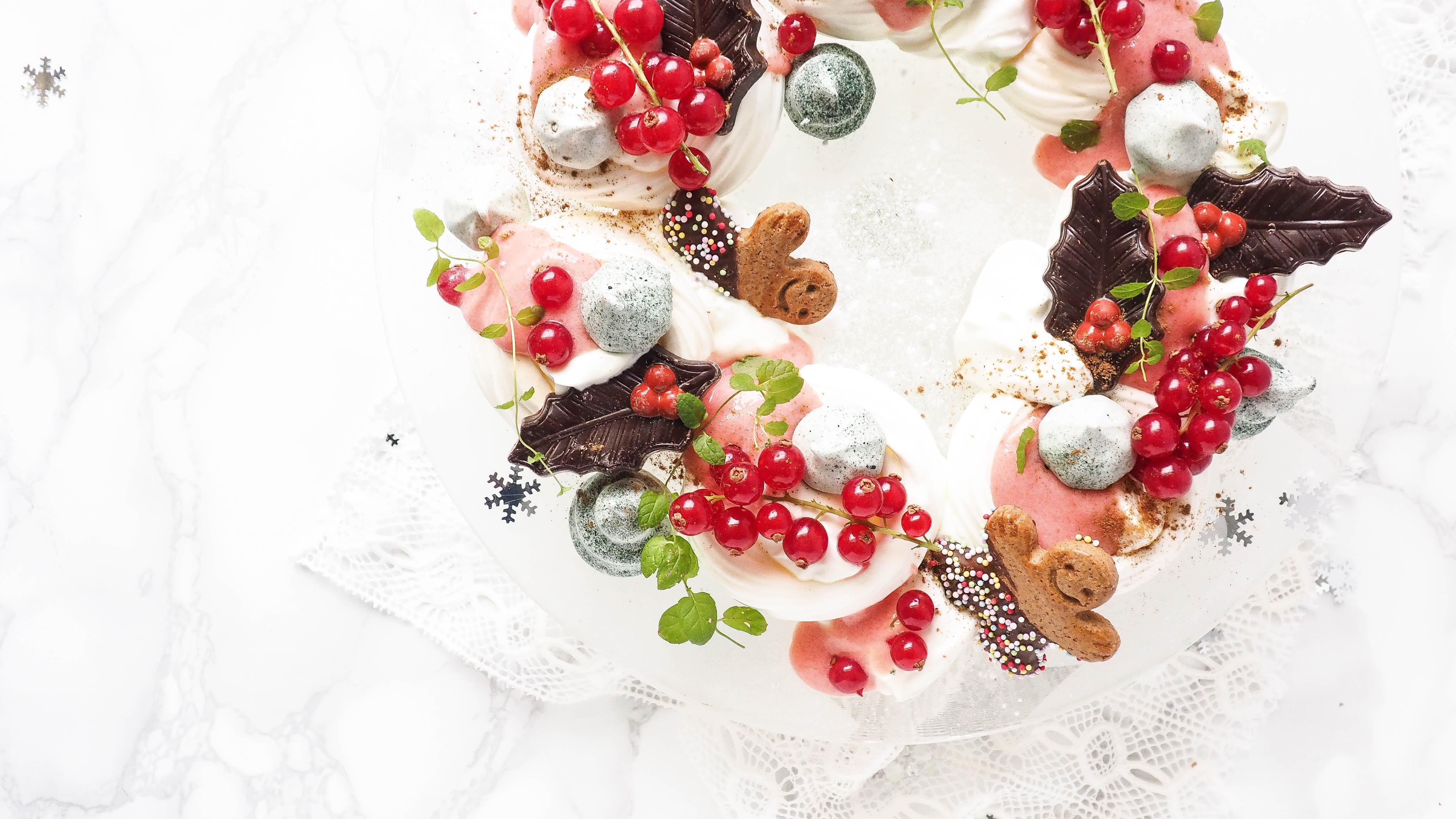 Guilty pleasure: Meringue kerstkrans