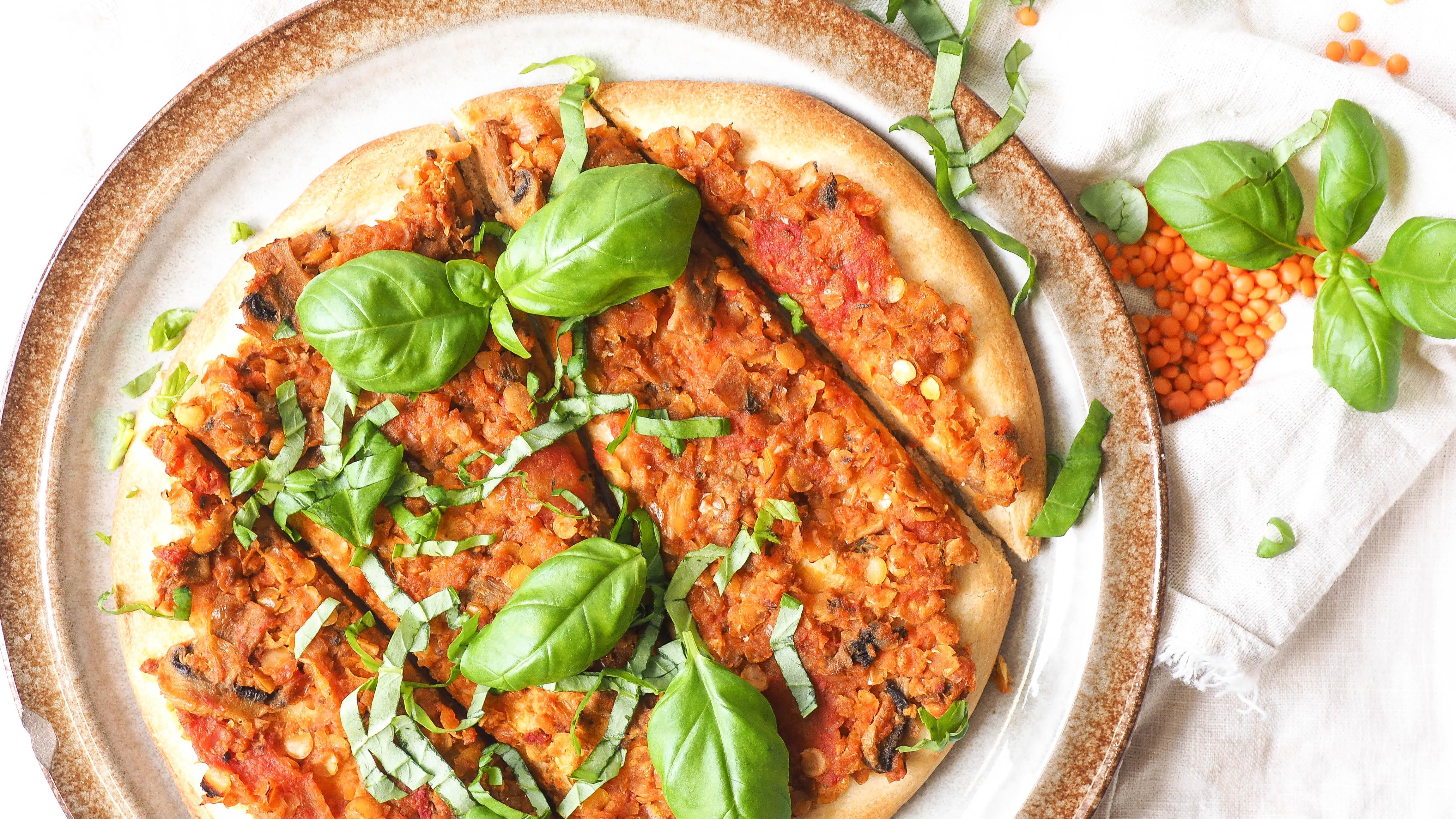 Recept: Vega pizza Bolognese