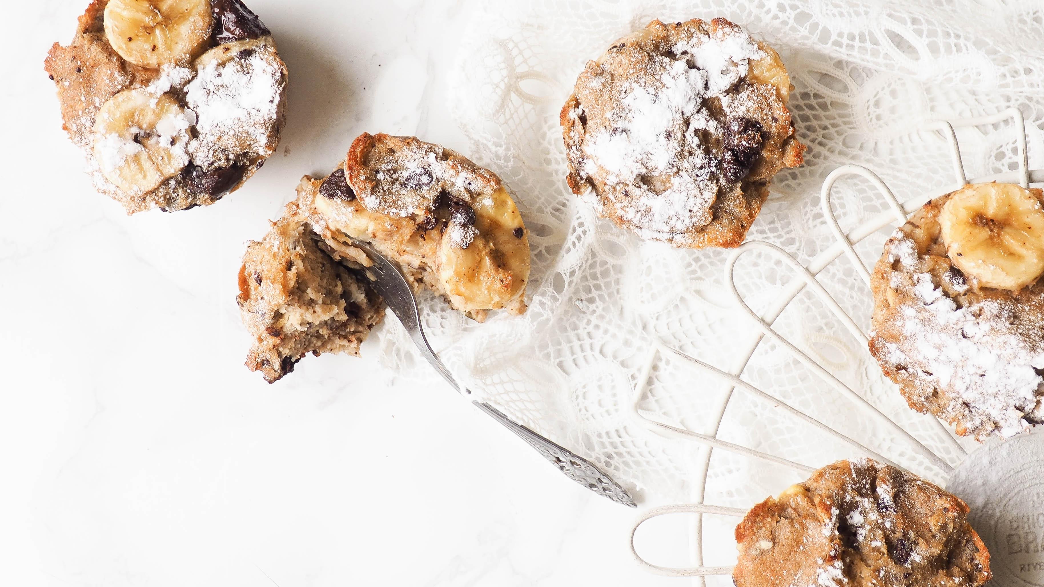 Recept: Chuncky monkey broodpudding muffins