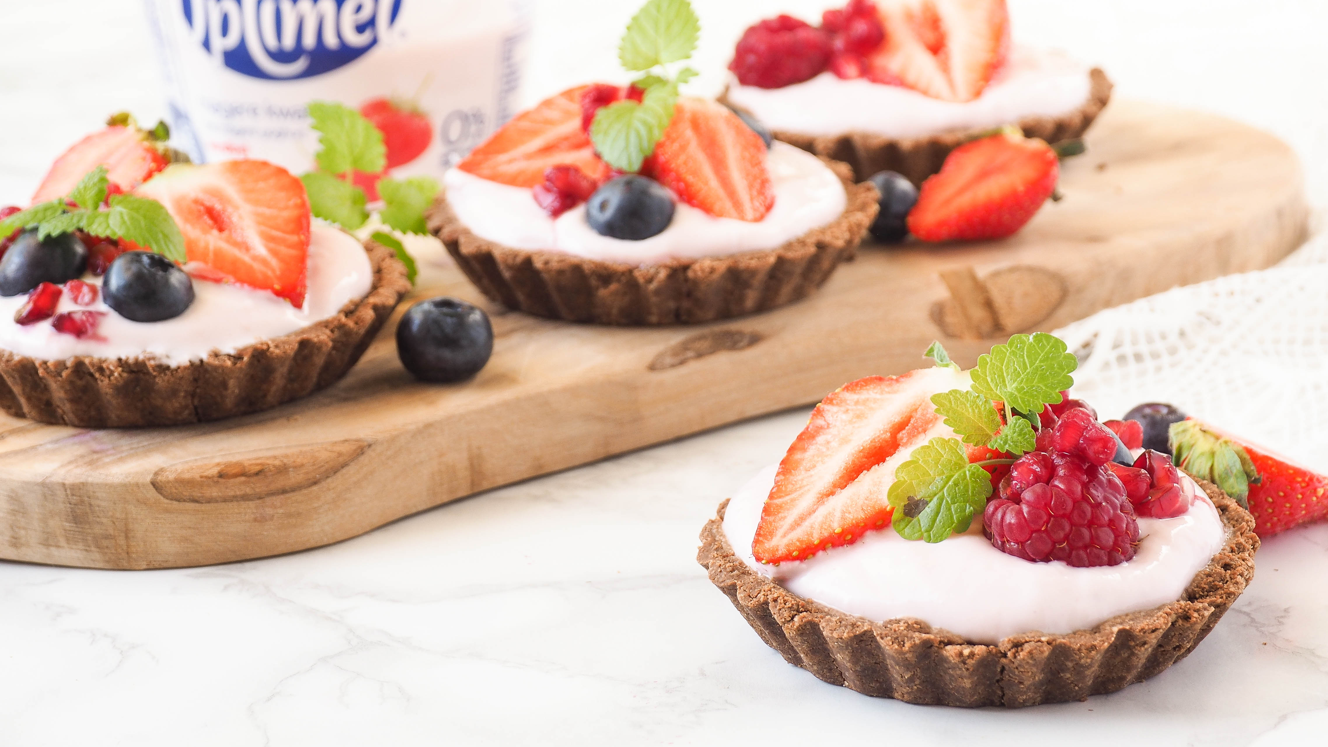 Recept: Aardbeien chocolade kwarktaartjes