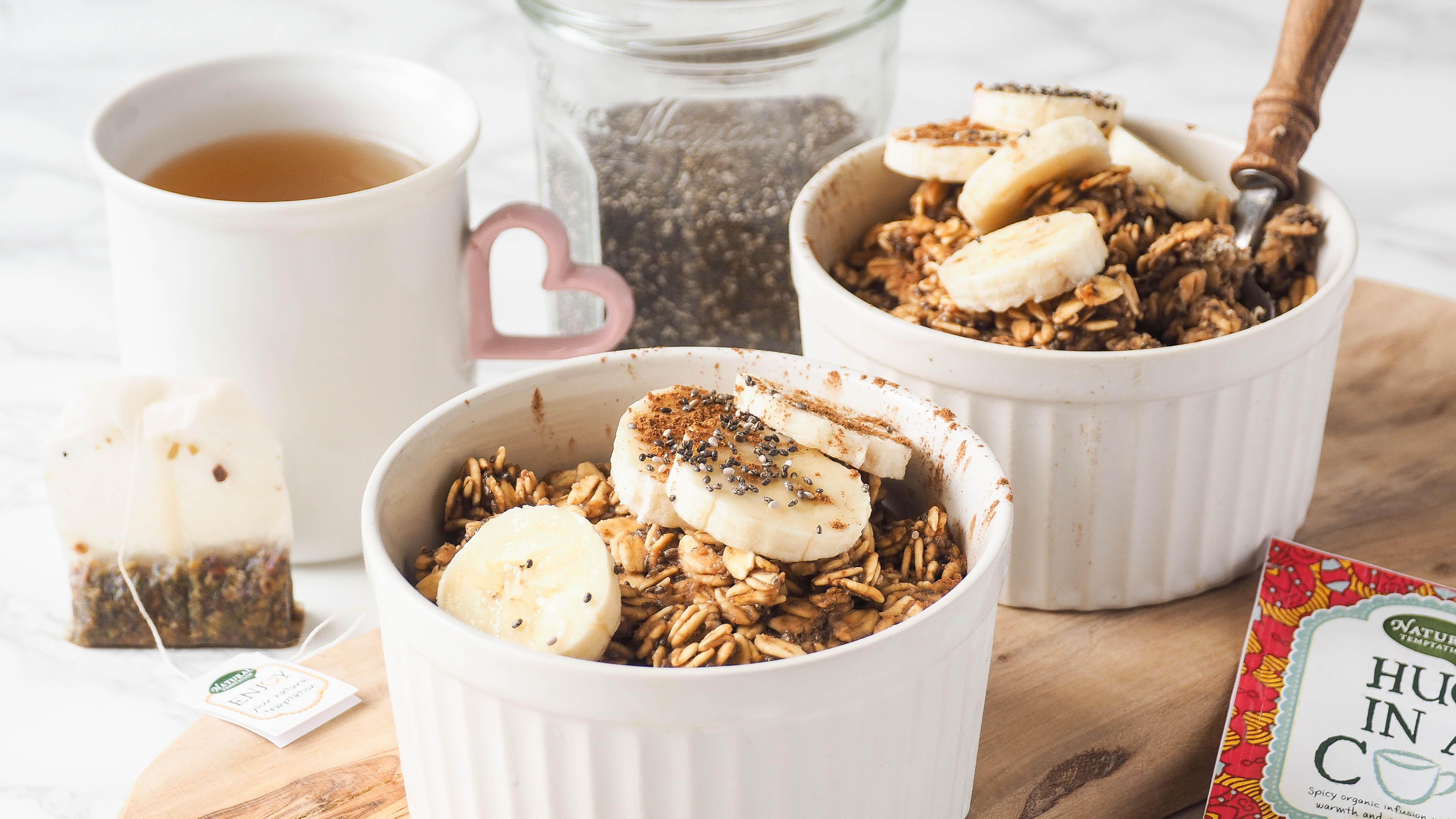 Recept: Baked oats met kruidige thee