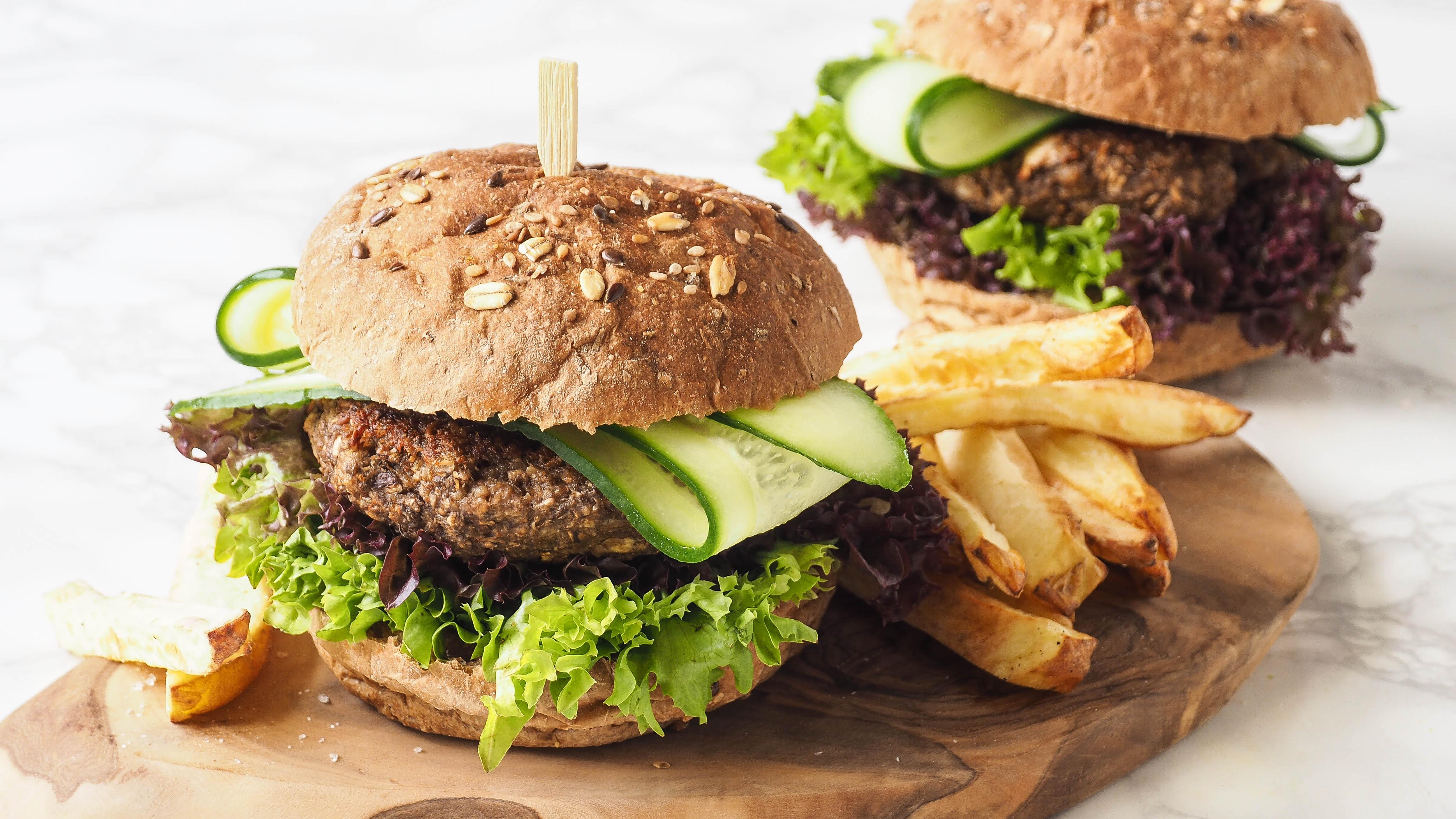 5x LKKRDR: Plantaardige champignon burgers