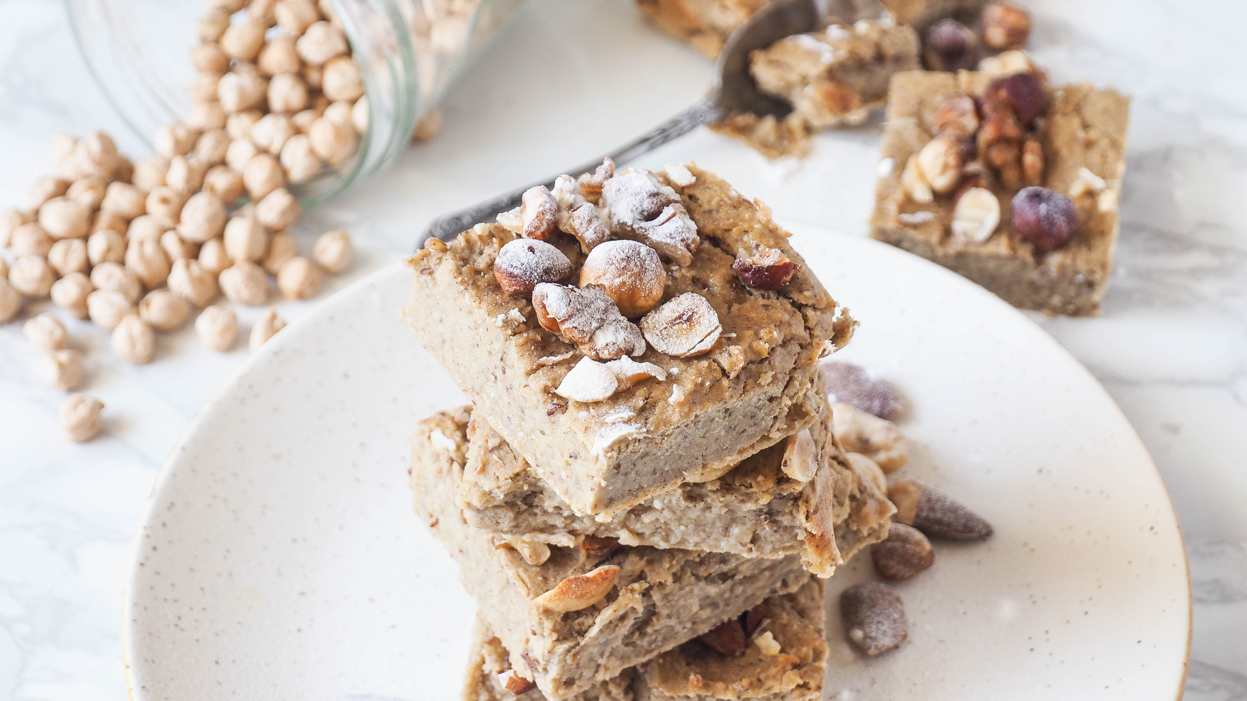 Recept: Plantaardige kikkererwten blondies