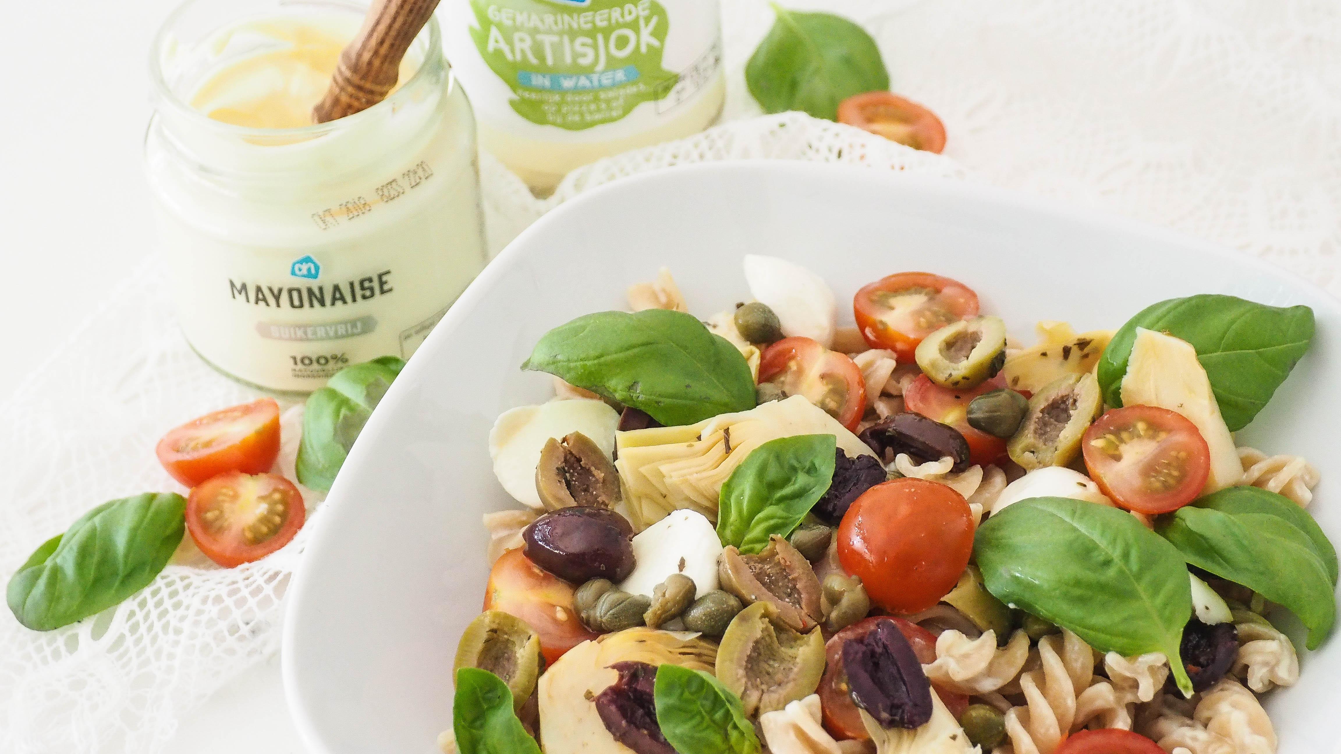 Recept: Pastasalade met artisjok en olijven