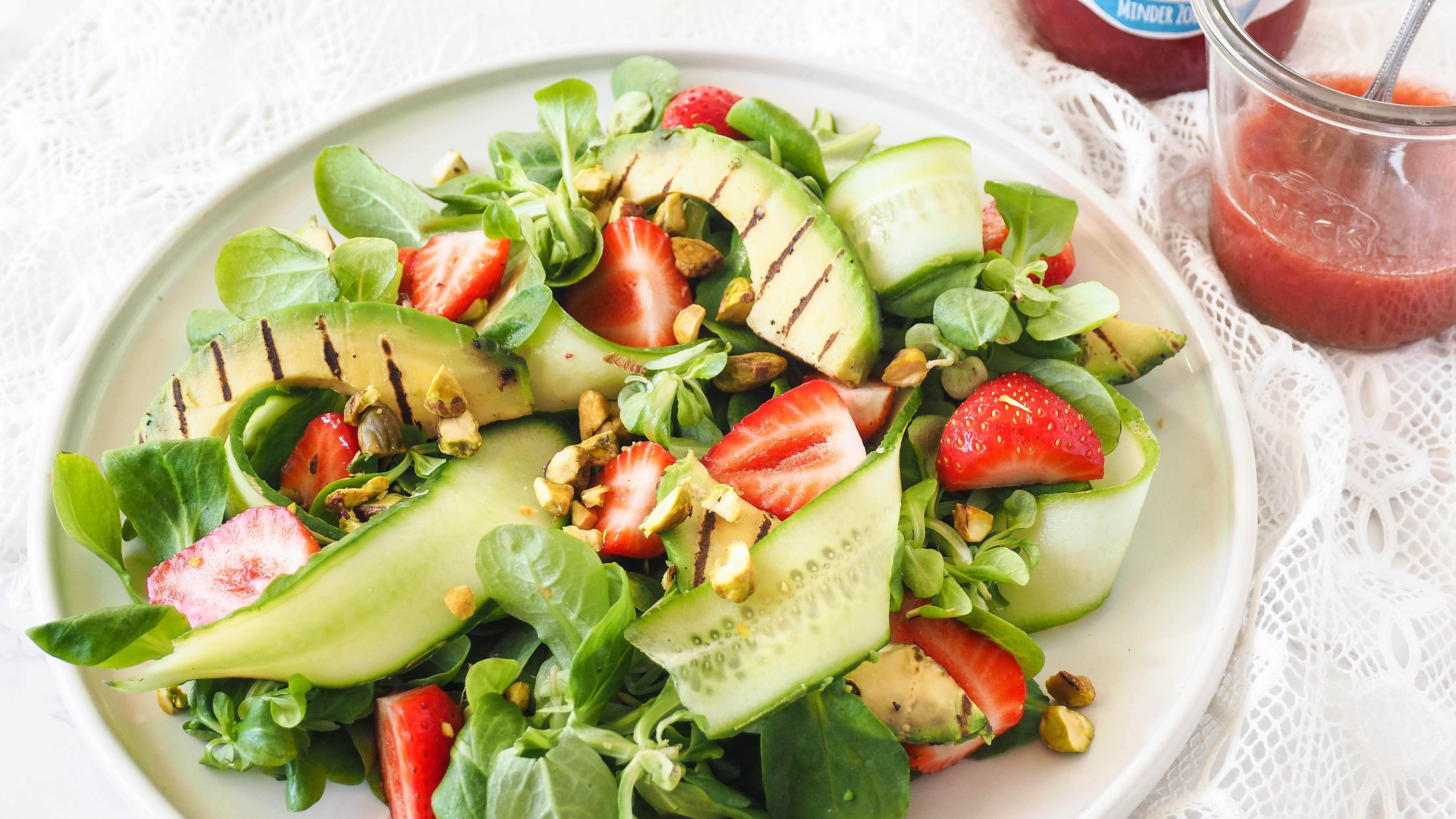 Recept: Salade met aardbeien vinaigrette