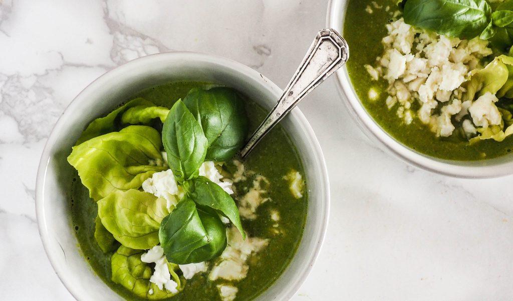 Recept: Doperwten sla soep met feta