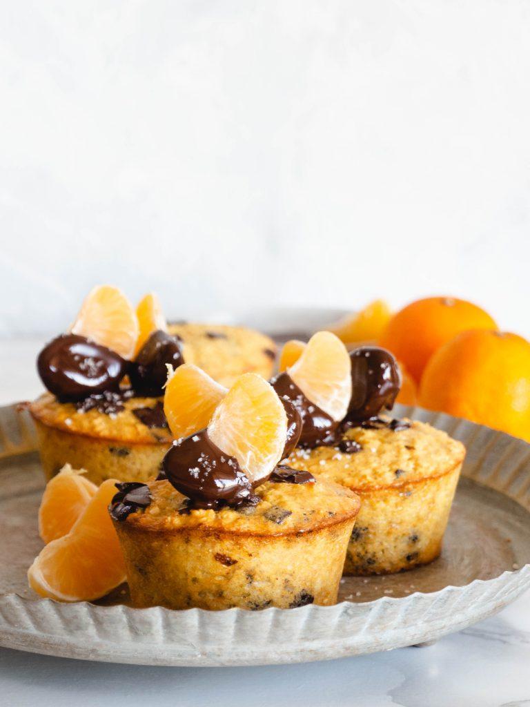 mandarijn chocolade muffins