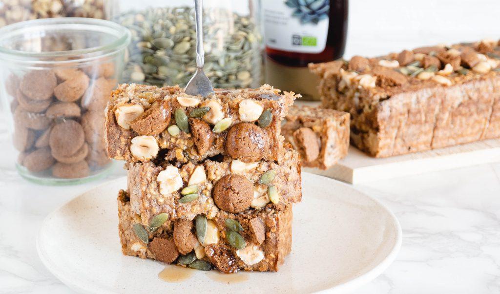 Recept: (peper)noten en zaden bananabread