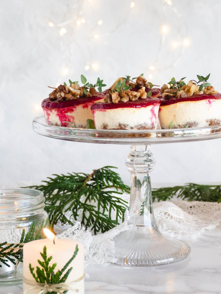 Mini bieten geitenkaas cheesecakes