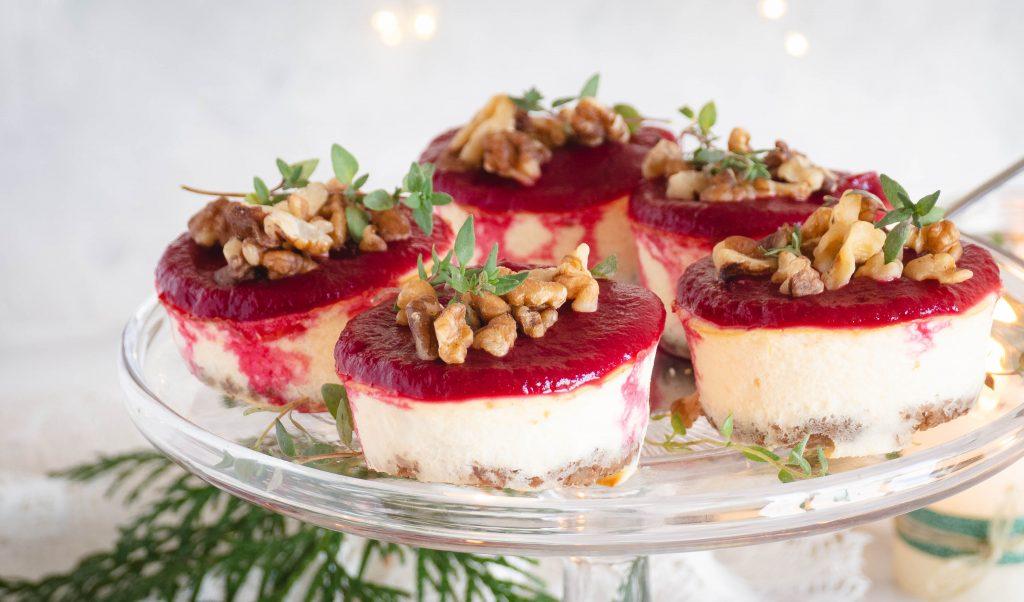 Recept: Mini bieten geitenkaas cheesecakes