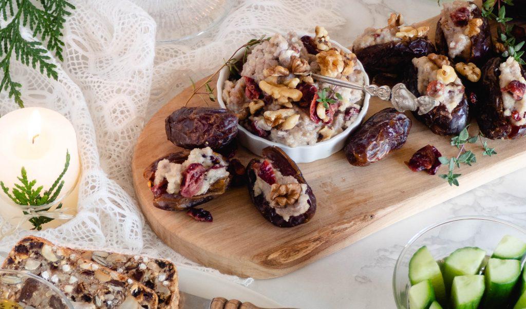 Recept: Dadels met cranberry cashew cream