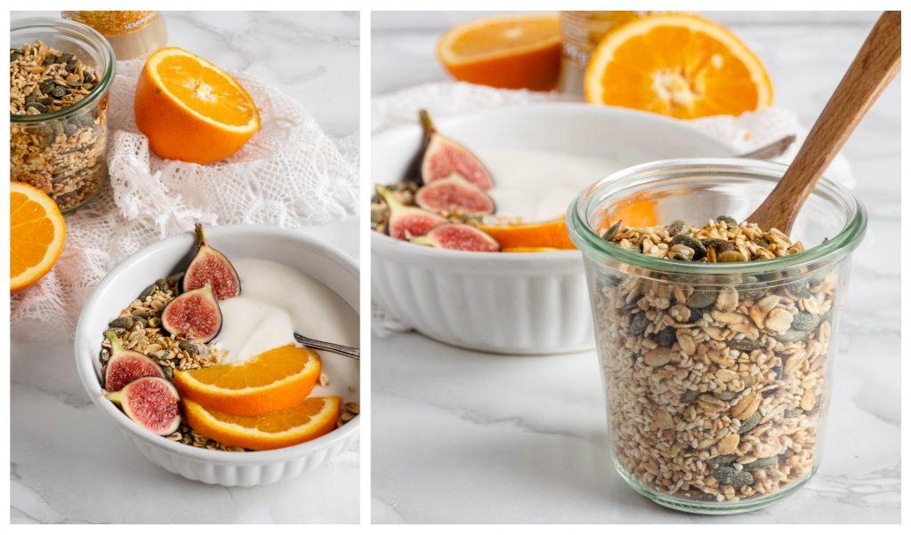 Recept: Sinaasappel tahini granola