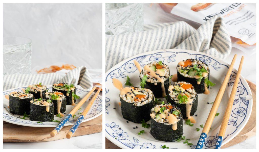 Recept: Havergrutten sushi met knakwortel