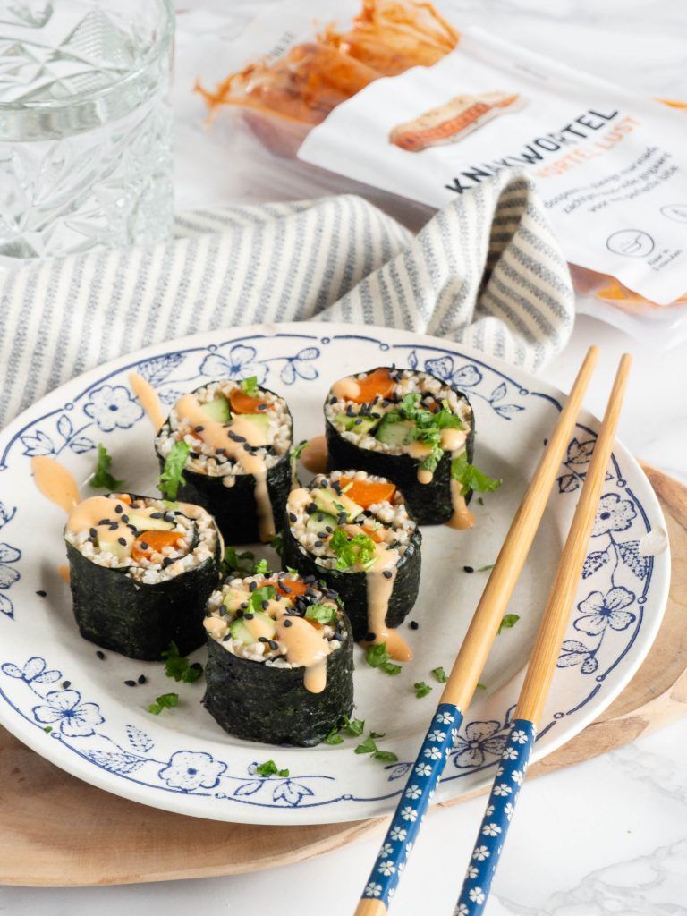 Sushi met knakwortel