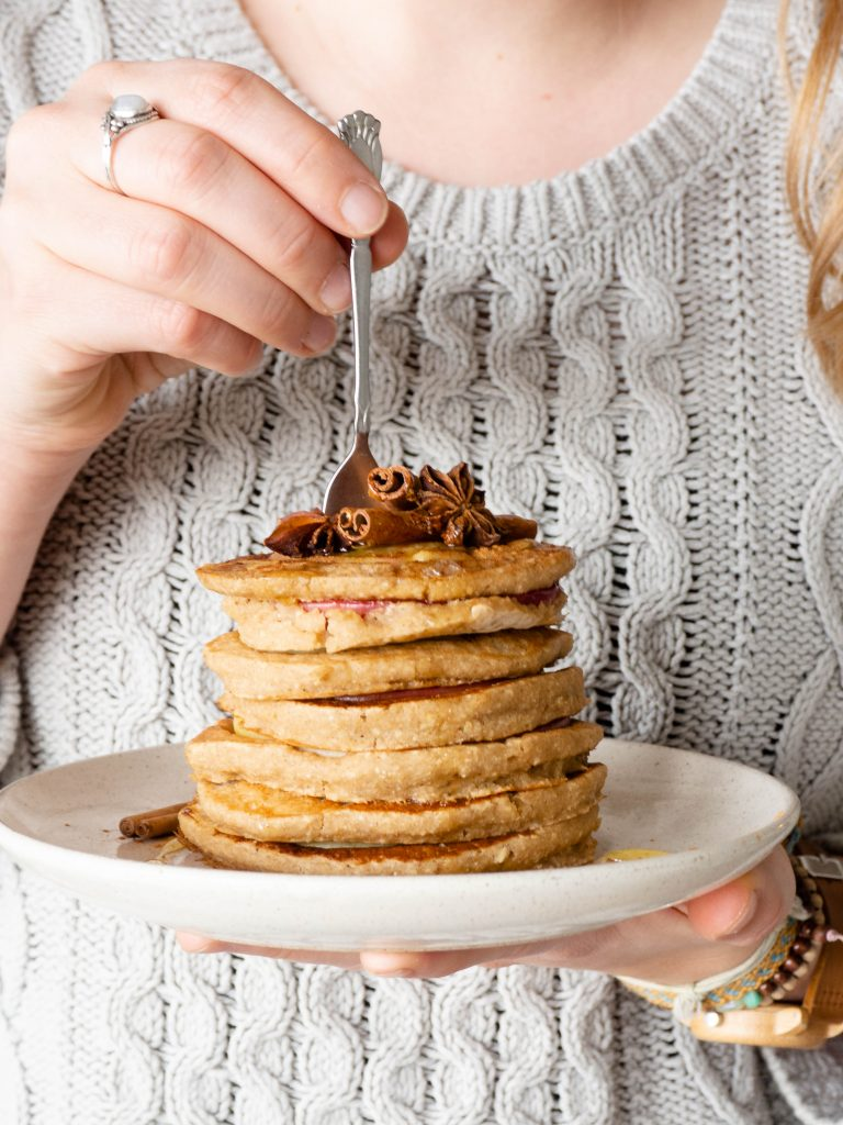 Appel gember pancakes