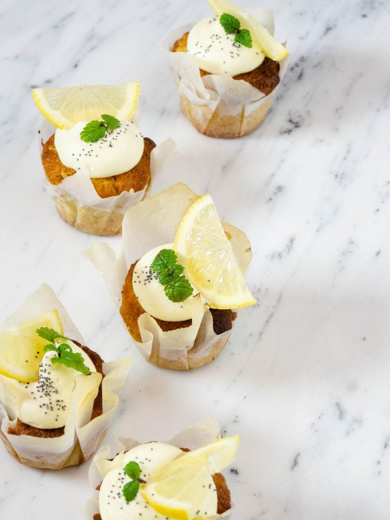 Citroen vlierbloesem cupcakes