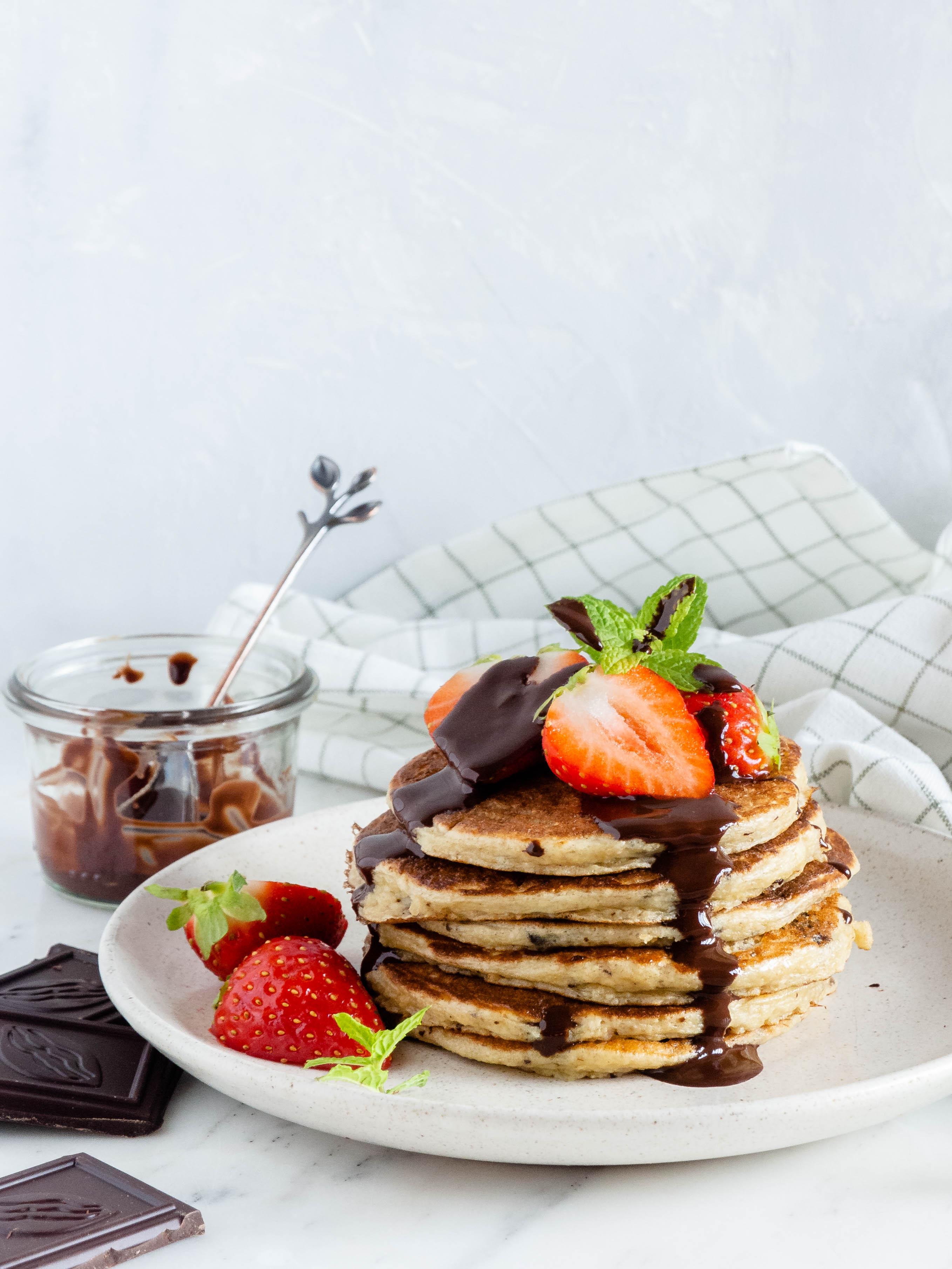 stracciatella pancakes