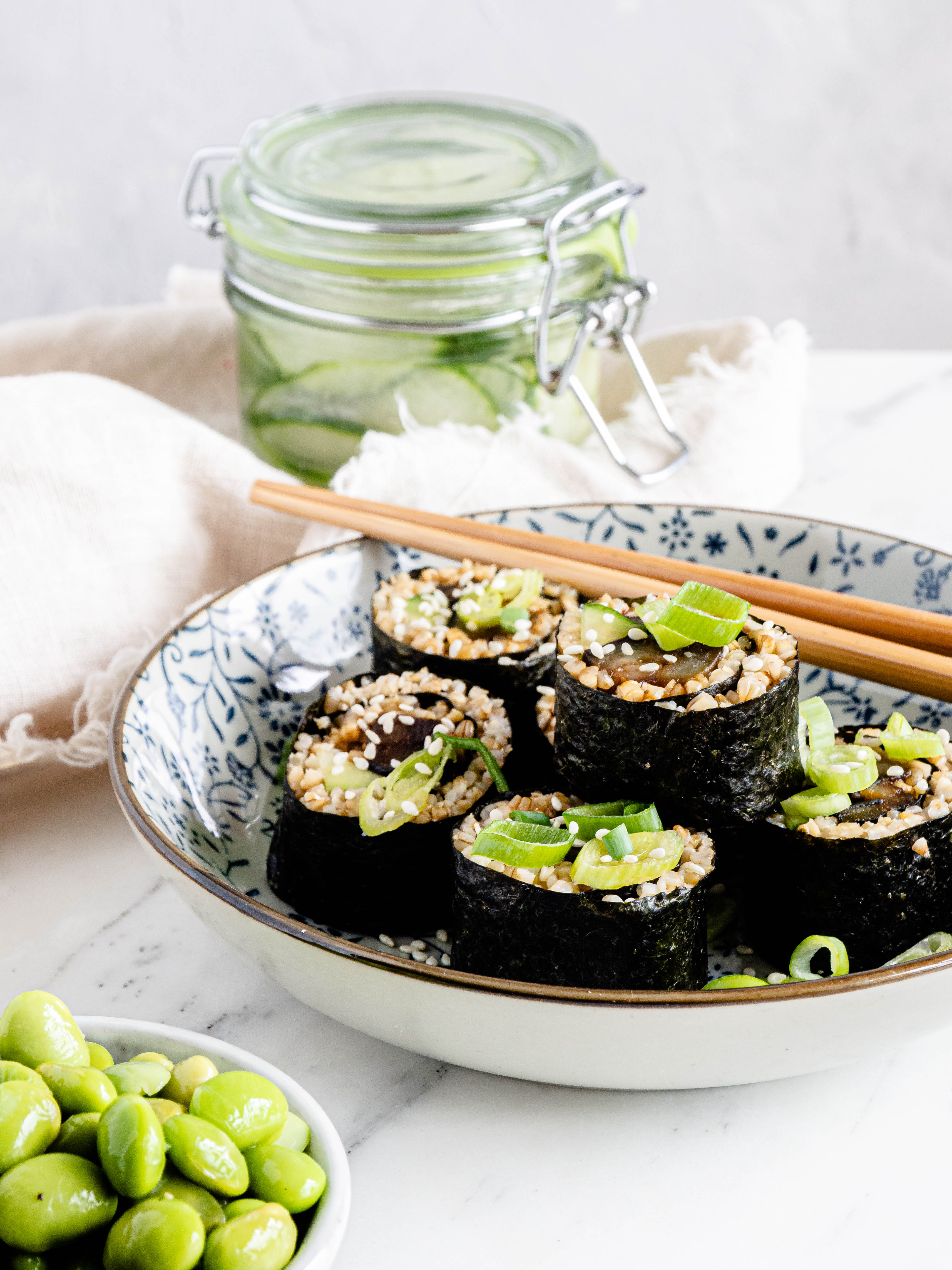 aubergine sushi