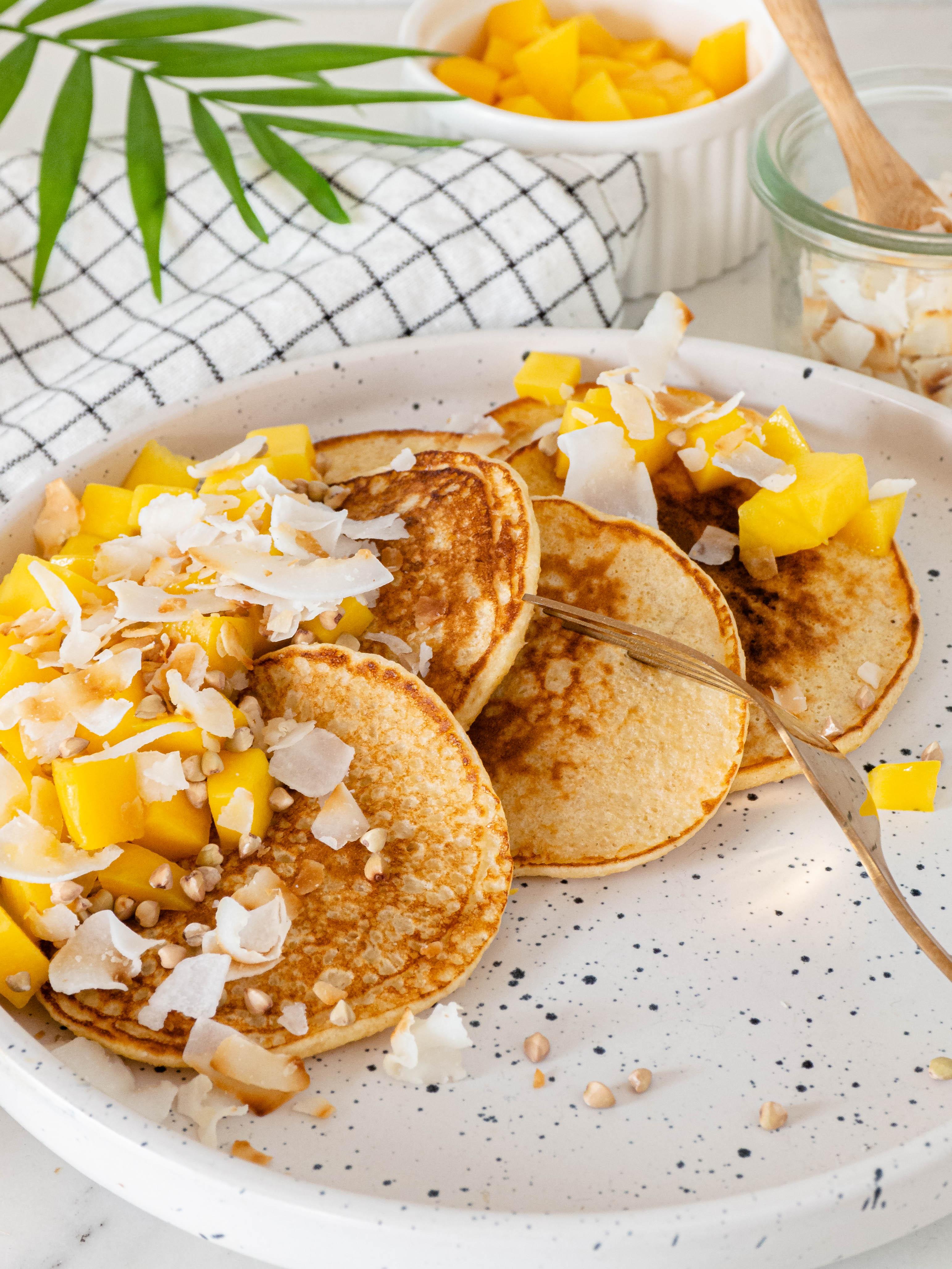 kokos kwark pancakes