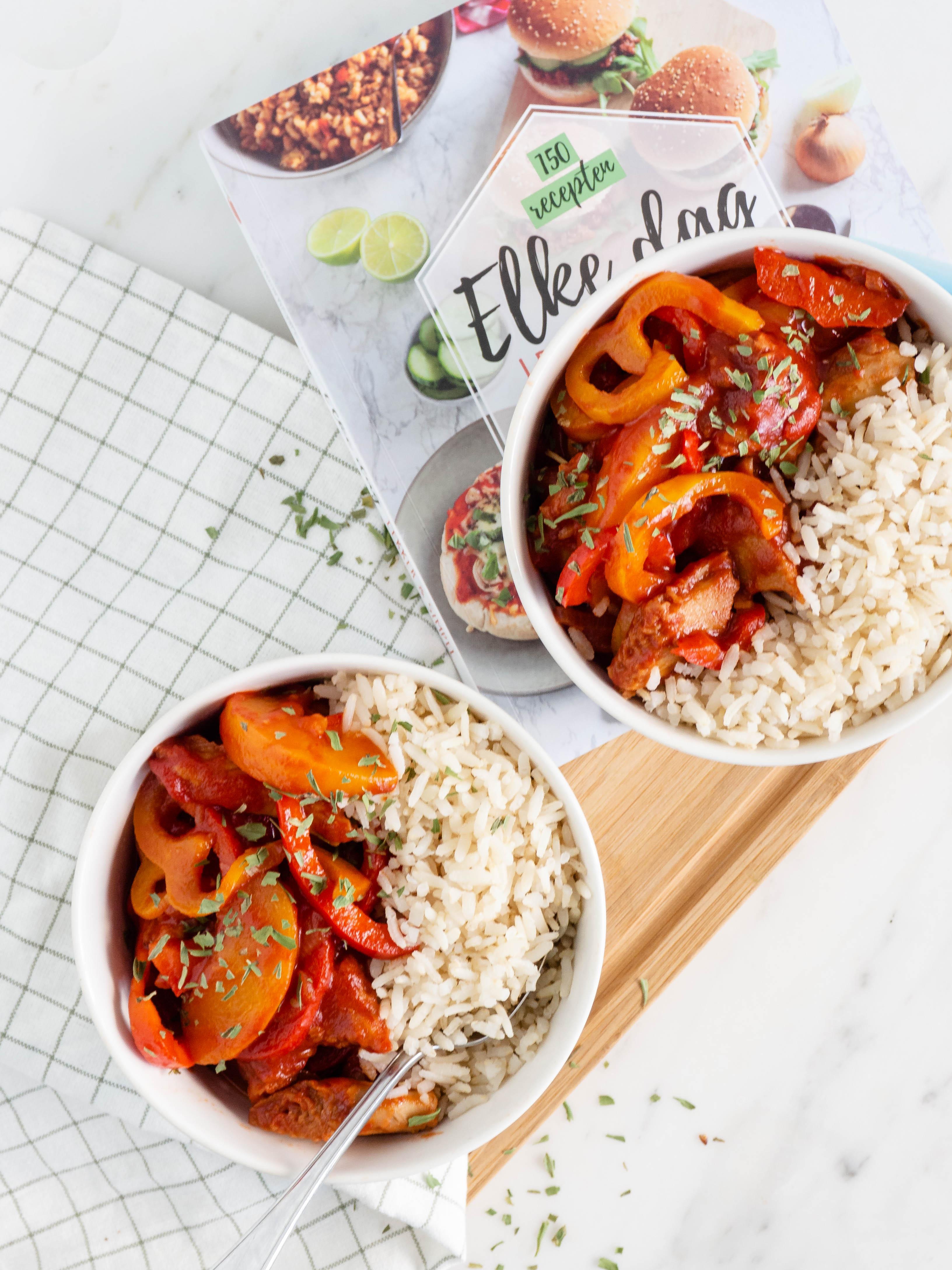 vegetarische kip pilav