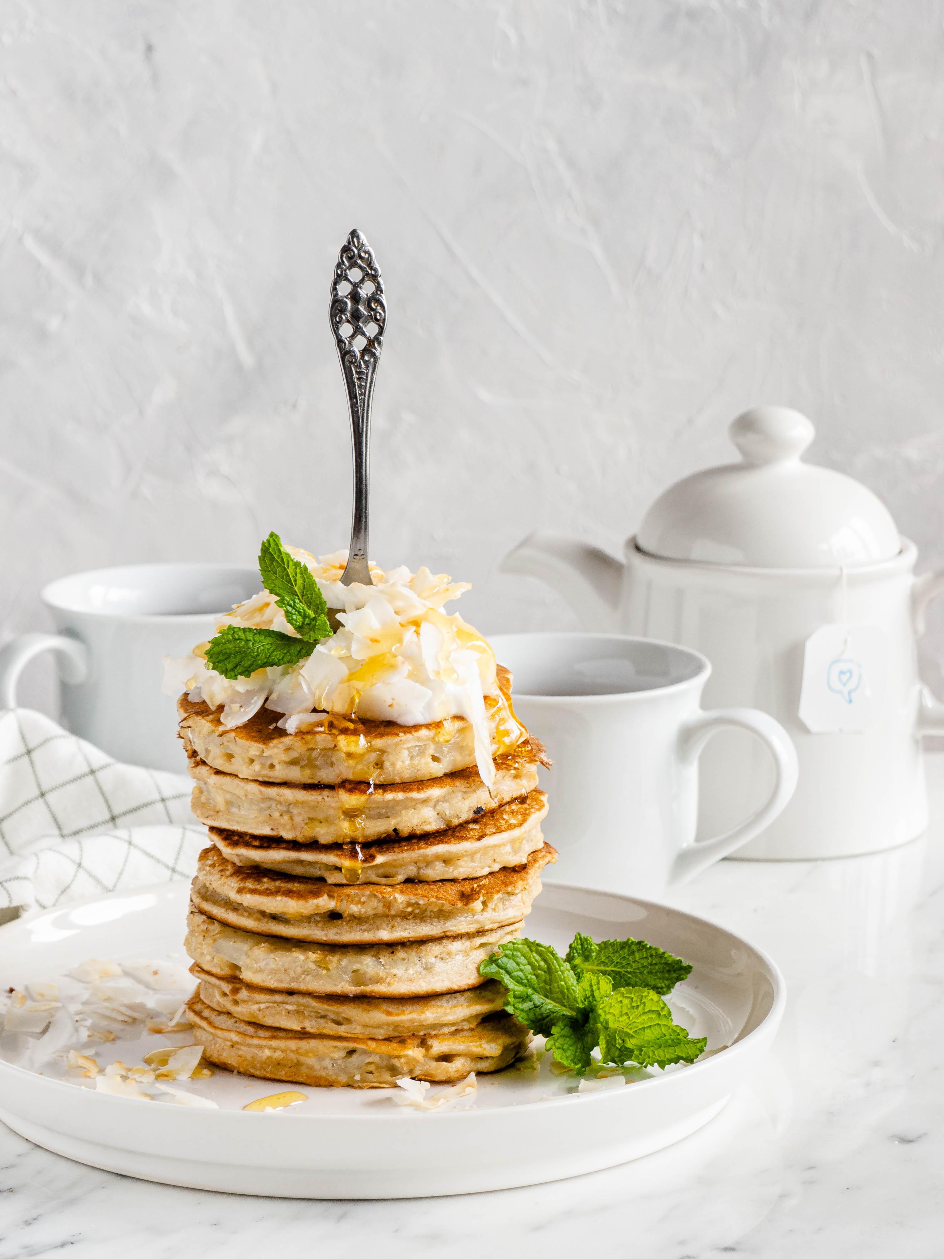 pancakes met ananasringen