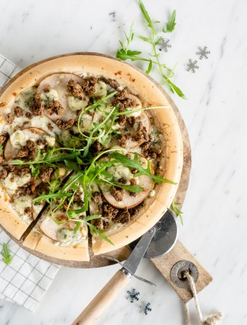 pizza met pulled oats