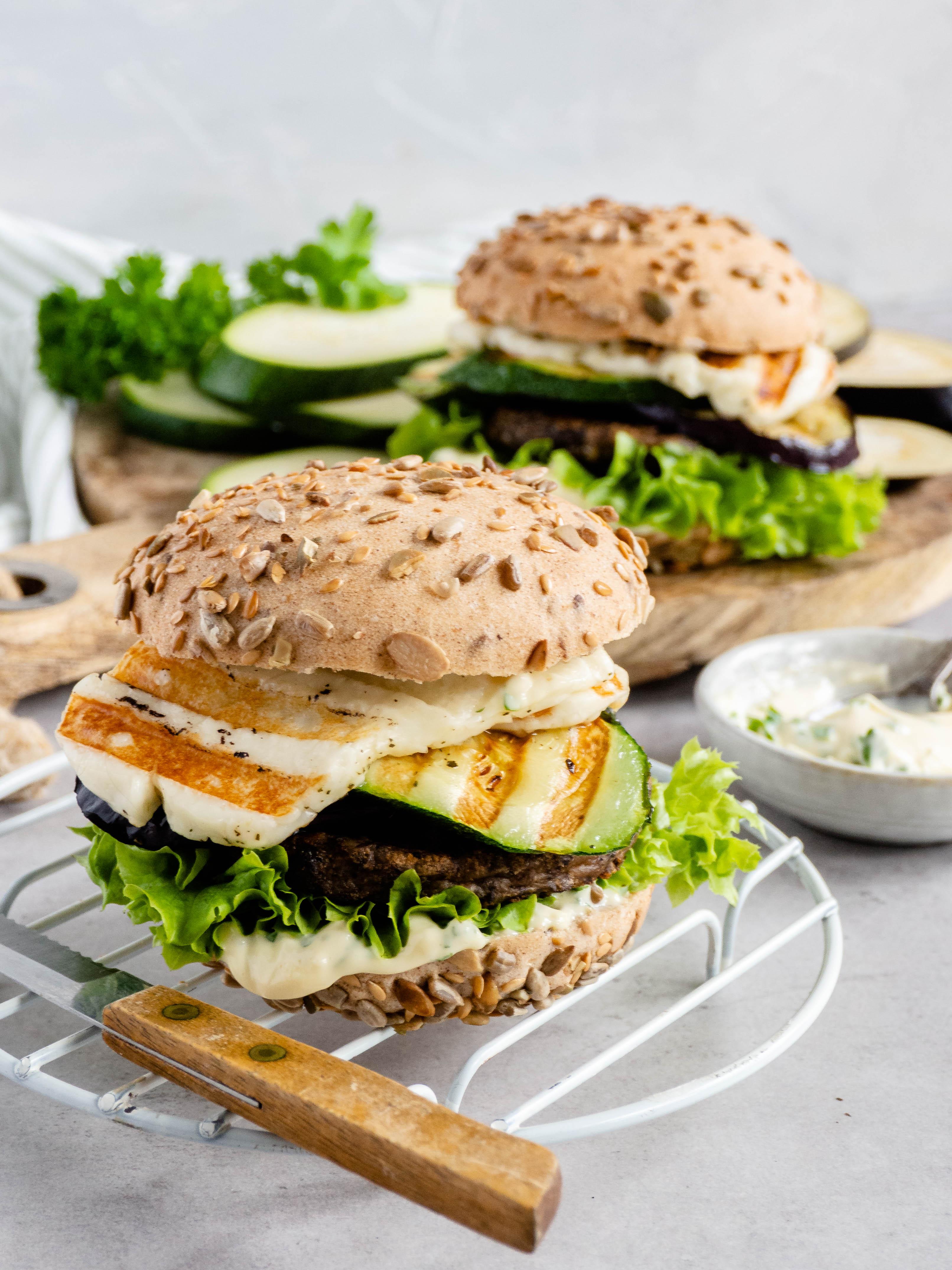 Vegetarische grill burger