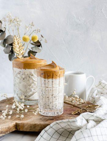 dalgona overnight oats
