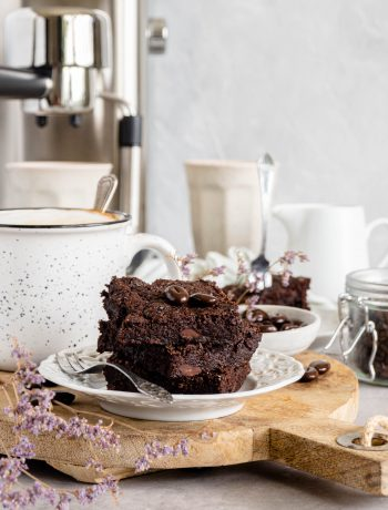 vegan espresso brownies