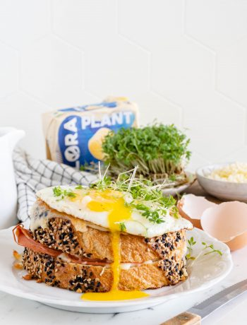 vegetarische croque madam