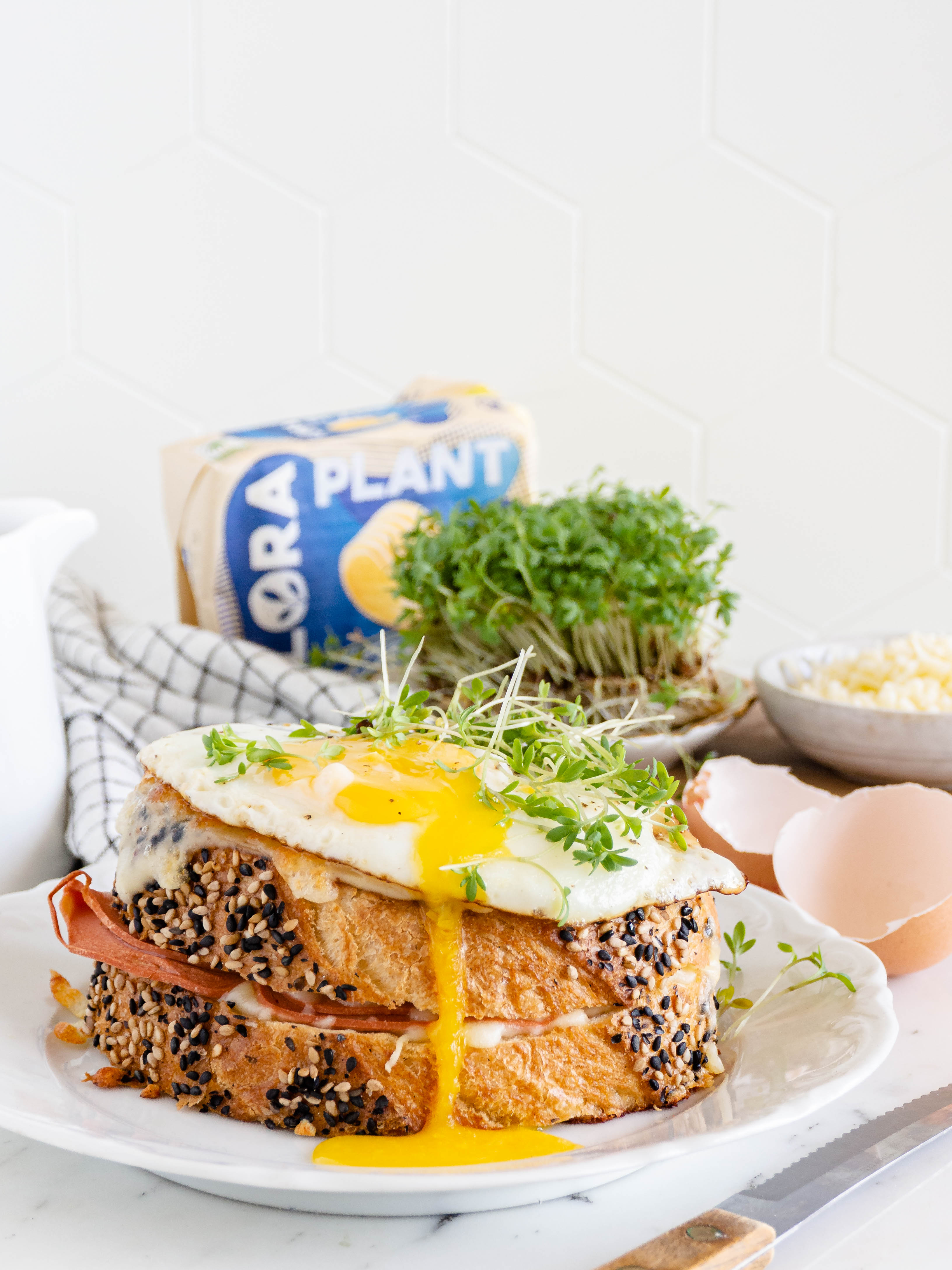 vegetarische croque madame