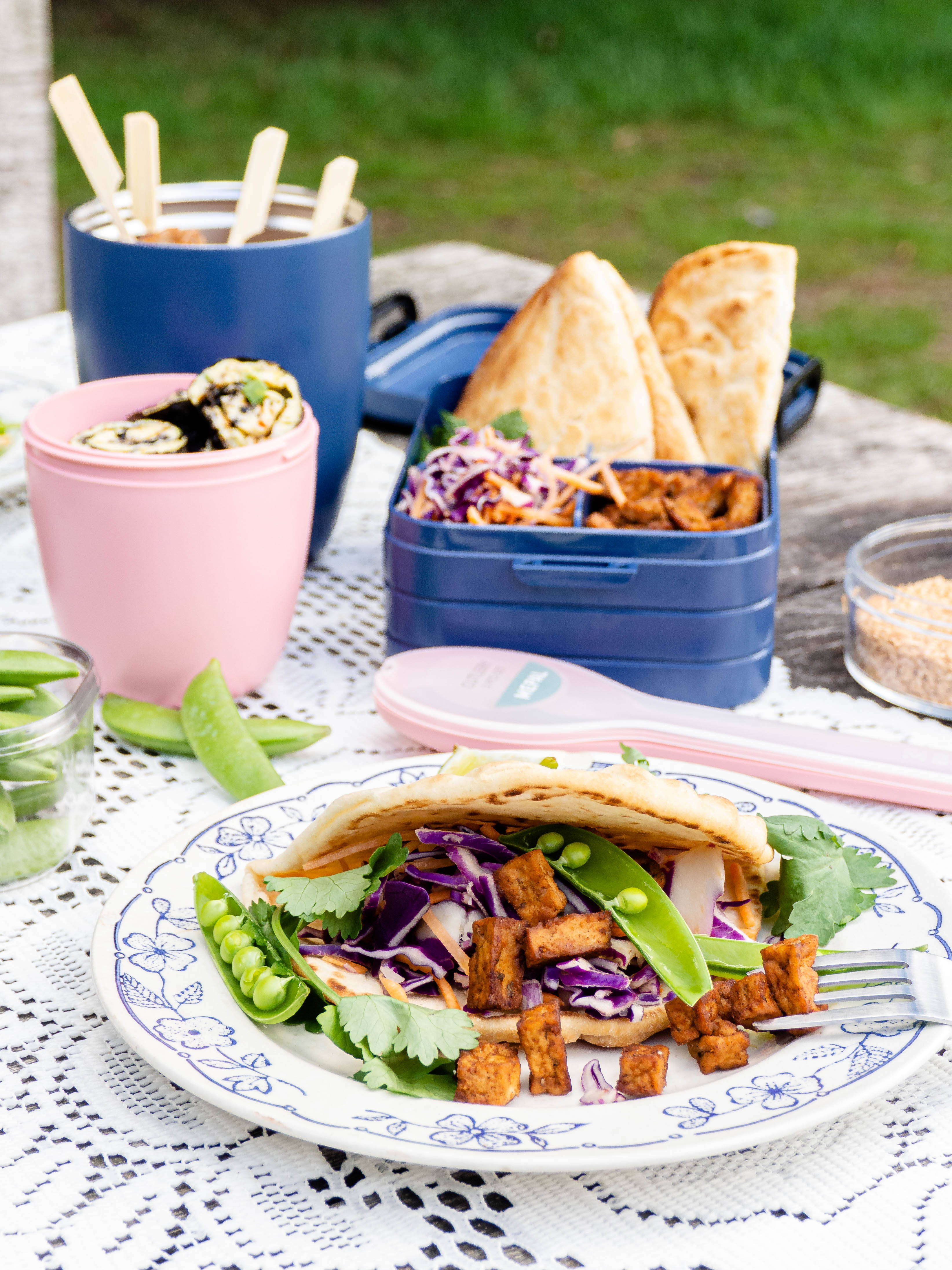 vegetarische picknick hapjes