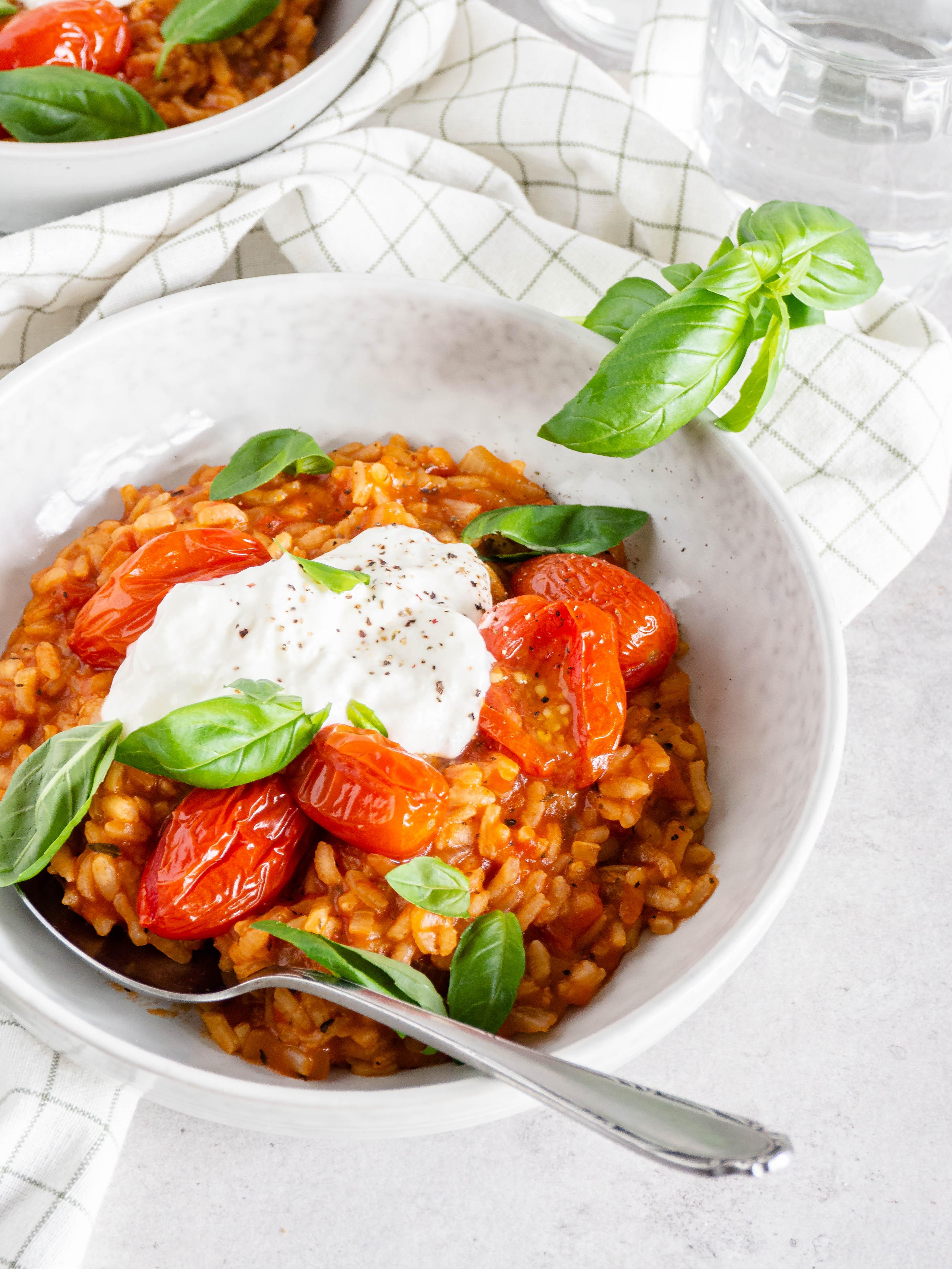 gemakkelijke tomaten risotto
