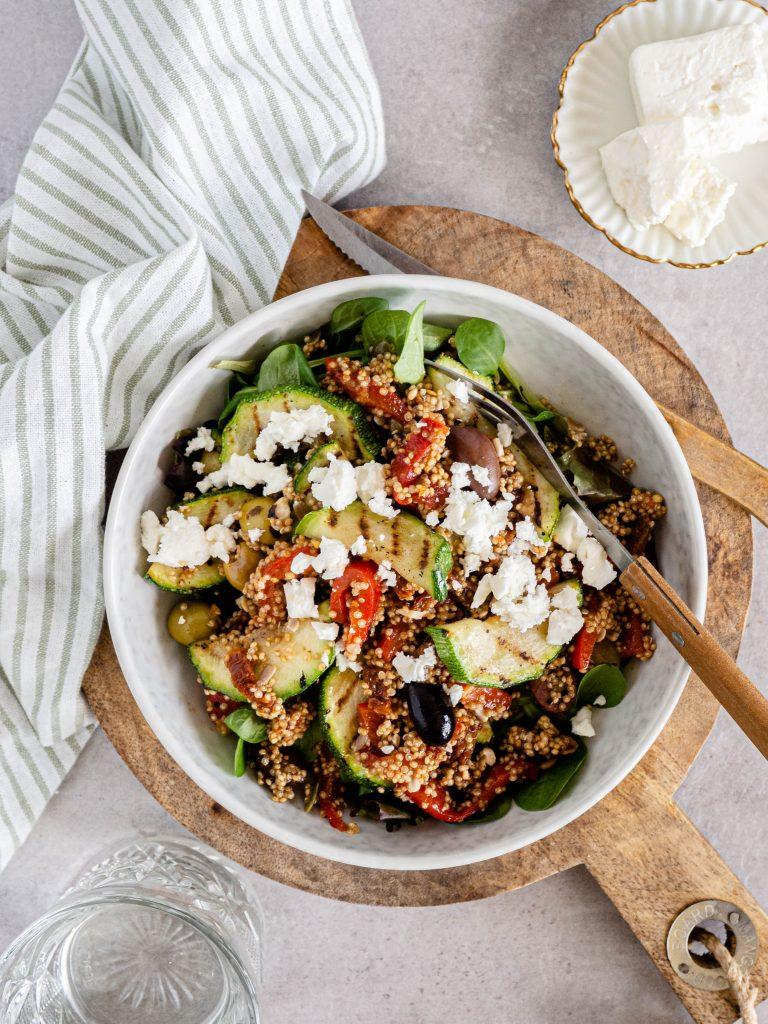 lunch salade met quinoa