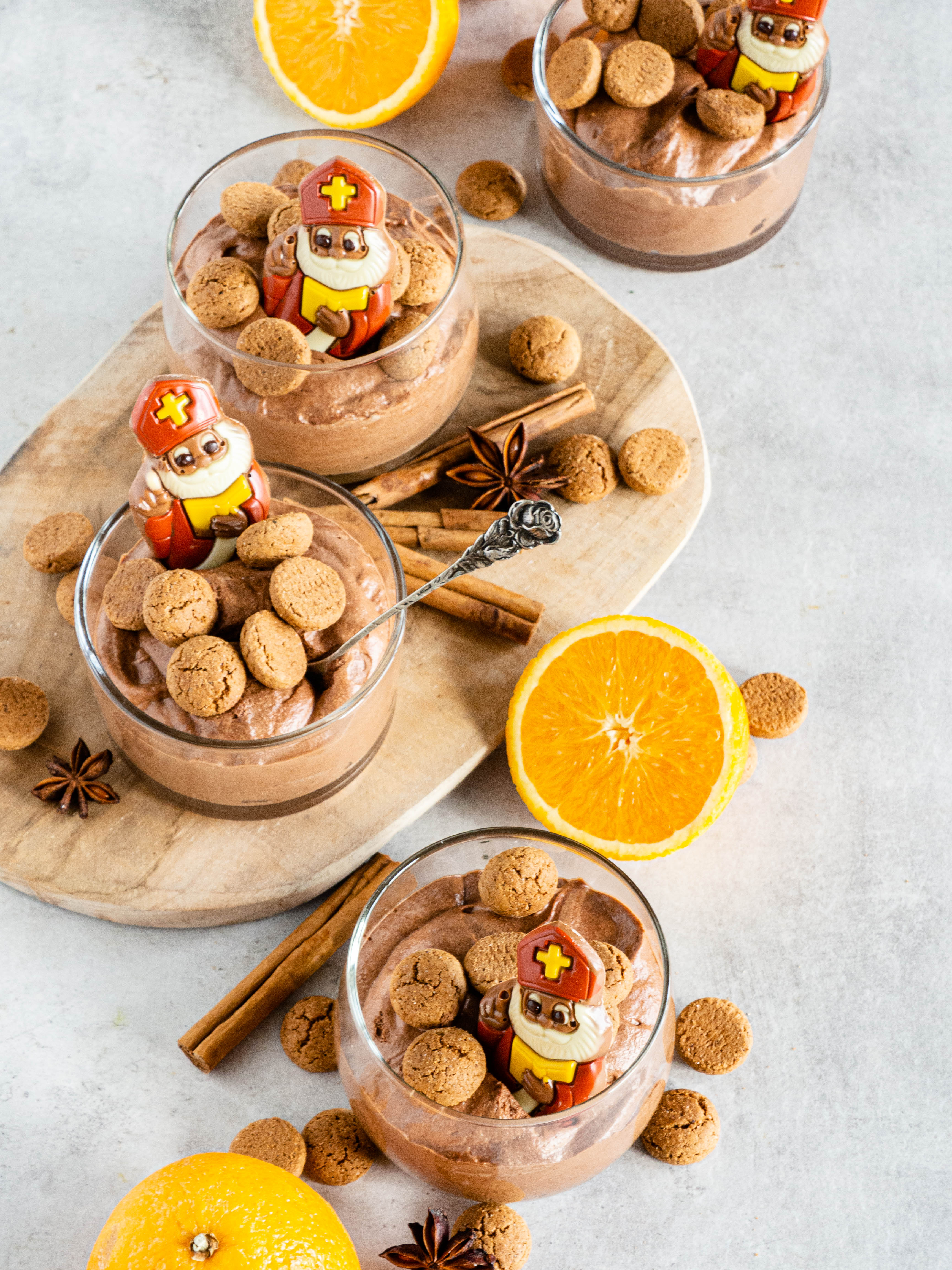 Chocolademousse met koekkruiden