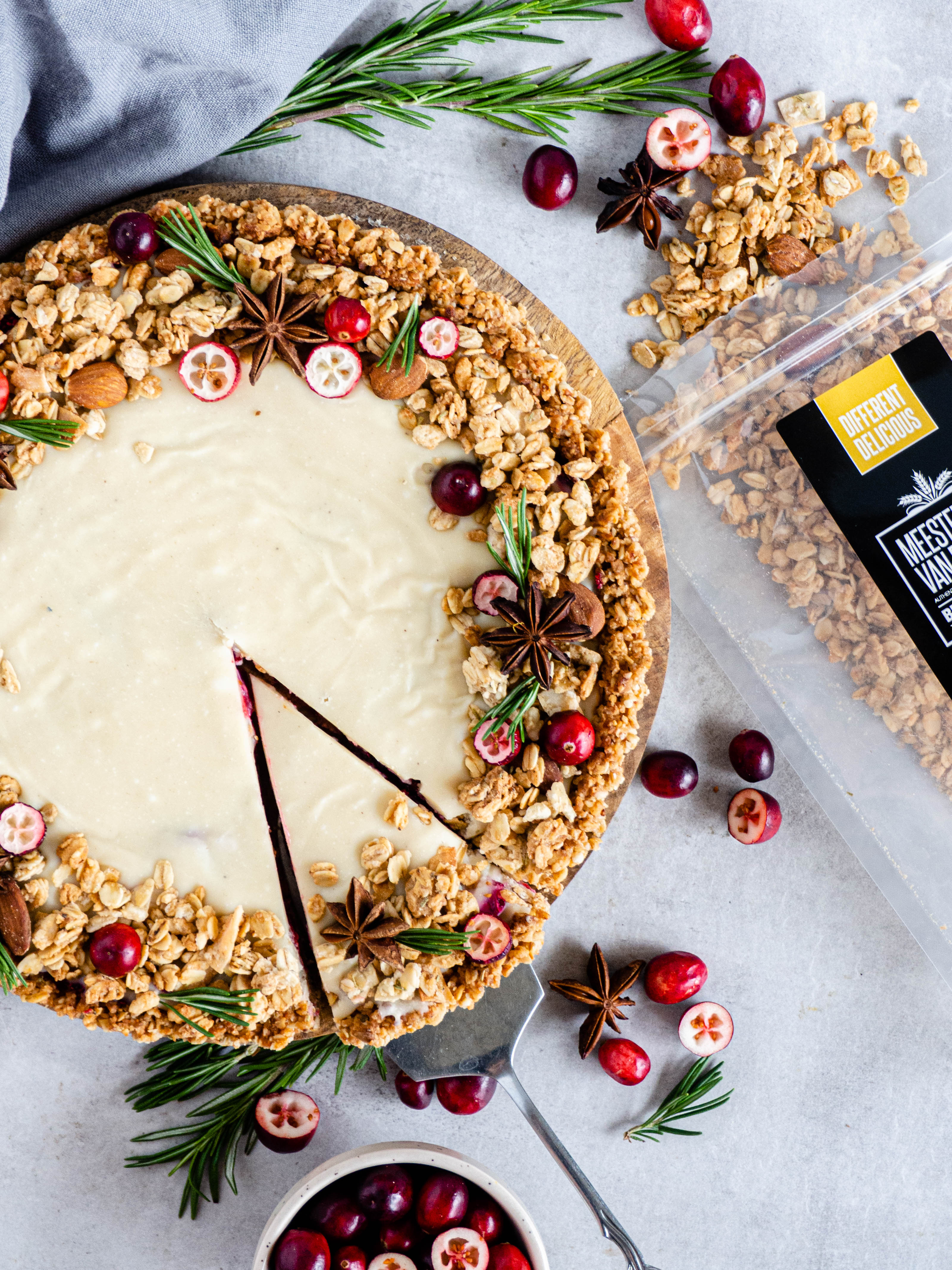 witte chocolade cranberry taart