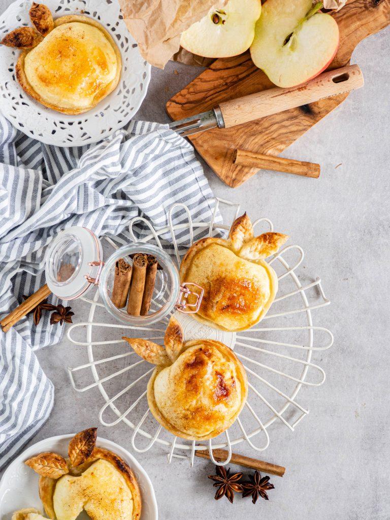appel bladerdeeg taartjes