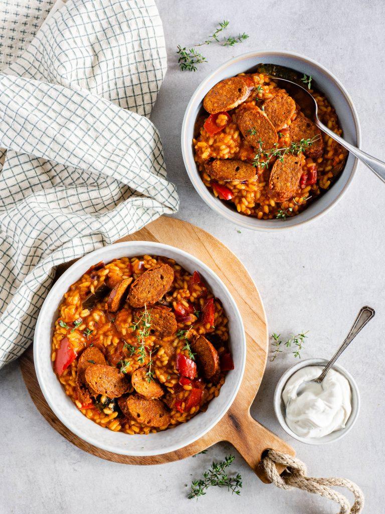 Risotto met gegrilde paprika